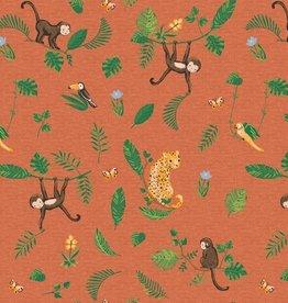 Poppy Jersey GOTS digital print Swinging Monkeys*