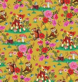 Poppy Jersey GOTS digital print Bambi & Friends - Fiona Hewitt