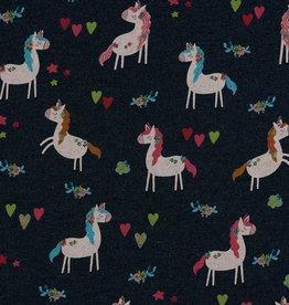 Poppy Sweat Jogging Glitter Unicorn Party jeansmélange