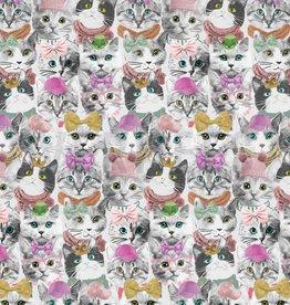 Poppy Jersey GOTS digital cats