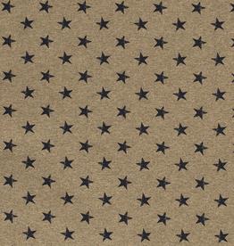 French terry khaki mélange met sterren *MissDoodle