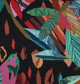 Satijn tropical XL print