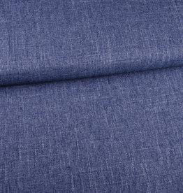 COUPON Structure linnenlook blauw mélange 95x150cm