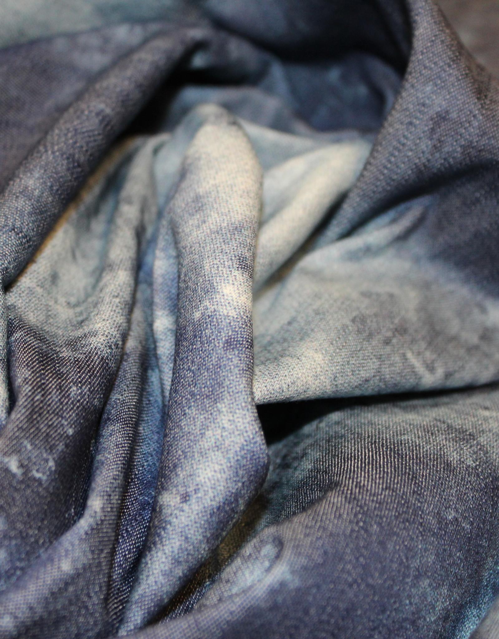 Jeans tie-dye effect blauw gevlamd