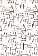 Bengaline wit met abstracte print zwart *MyImage