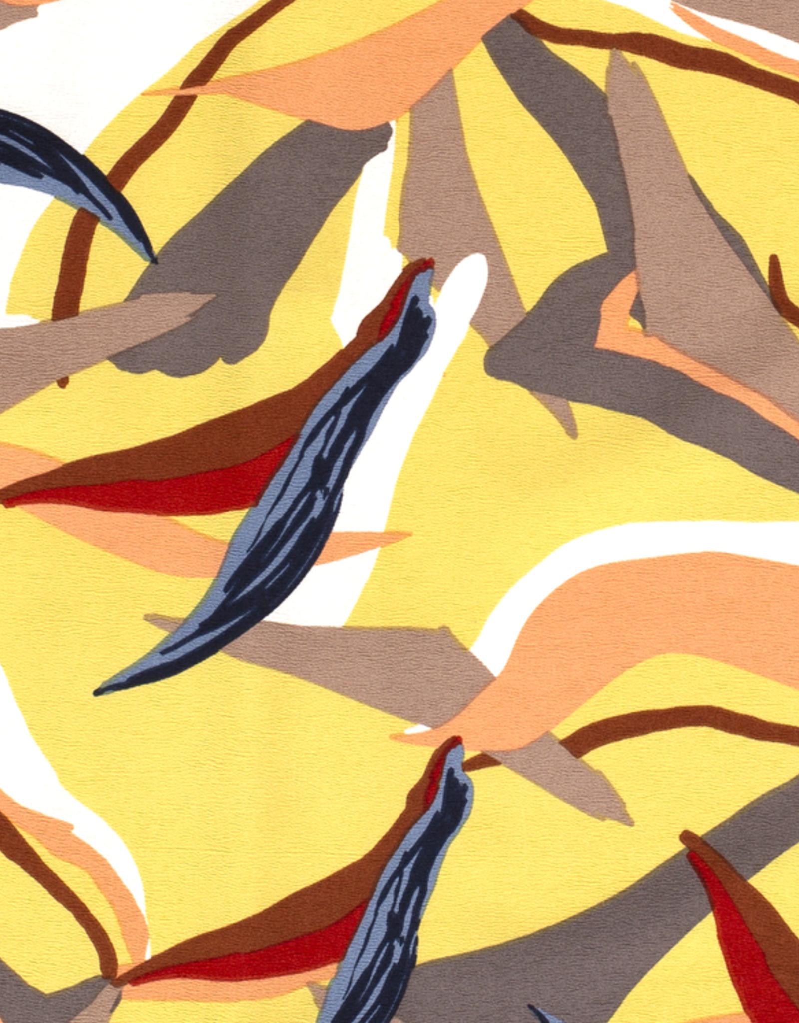 Scuba crepe 4way stretch geometric print groengeel *MyImage