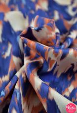 La Maison Victor Viscose gevlamd paars/koraal- LMV Sia Tuniek