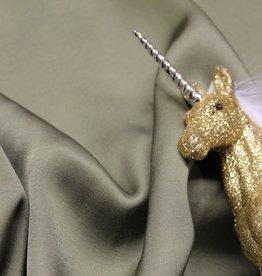 A La Ville Haute Couture Viscose satintouch zacht khaki