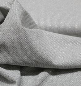 A La Ville Haute Couture Ribtricot zilver glitter lichtgrijs