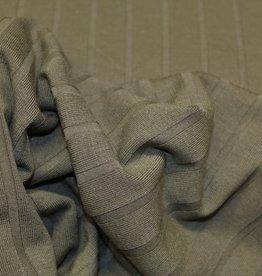 A La Ville Haute Couture coupon 90x150cm Structuurtricot vertikaal gestreept mosgroen