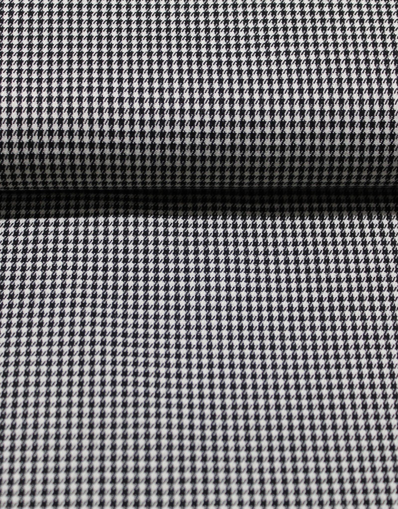 A La Ville Haute Couture Gabardine pied de poule zwart/wit