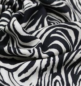 La Maison Victor Coupon 0.50x1.40m Viscose zebraprint - LMV ETHEL broek