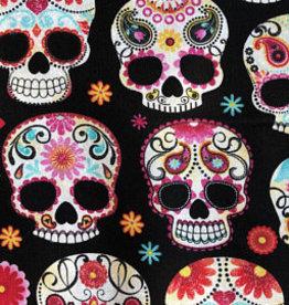Black fun skulls black - Timeless Treasures
