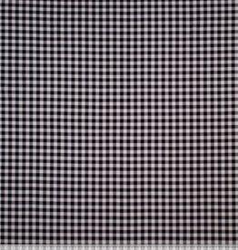 Tricot blokjes 1cm zwart/wit