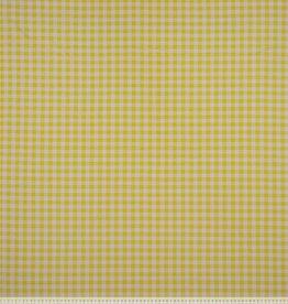 Tricot blokjes 1cm geel/wit