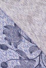 Soepel breisel denim flower print