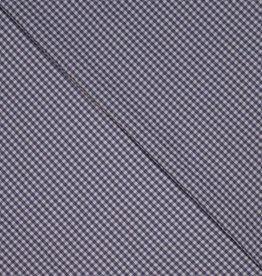 Seersucker vichy jeansblauw