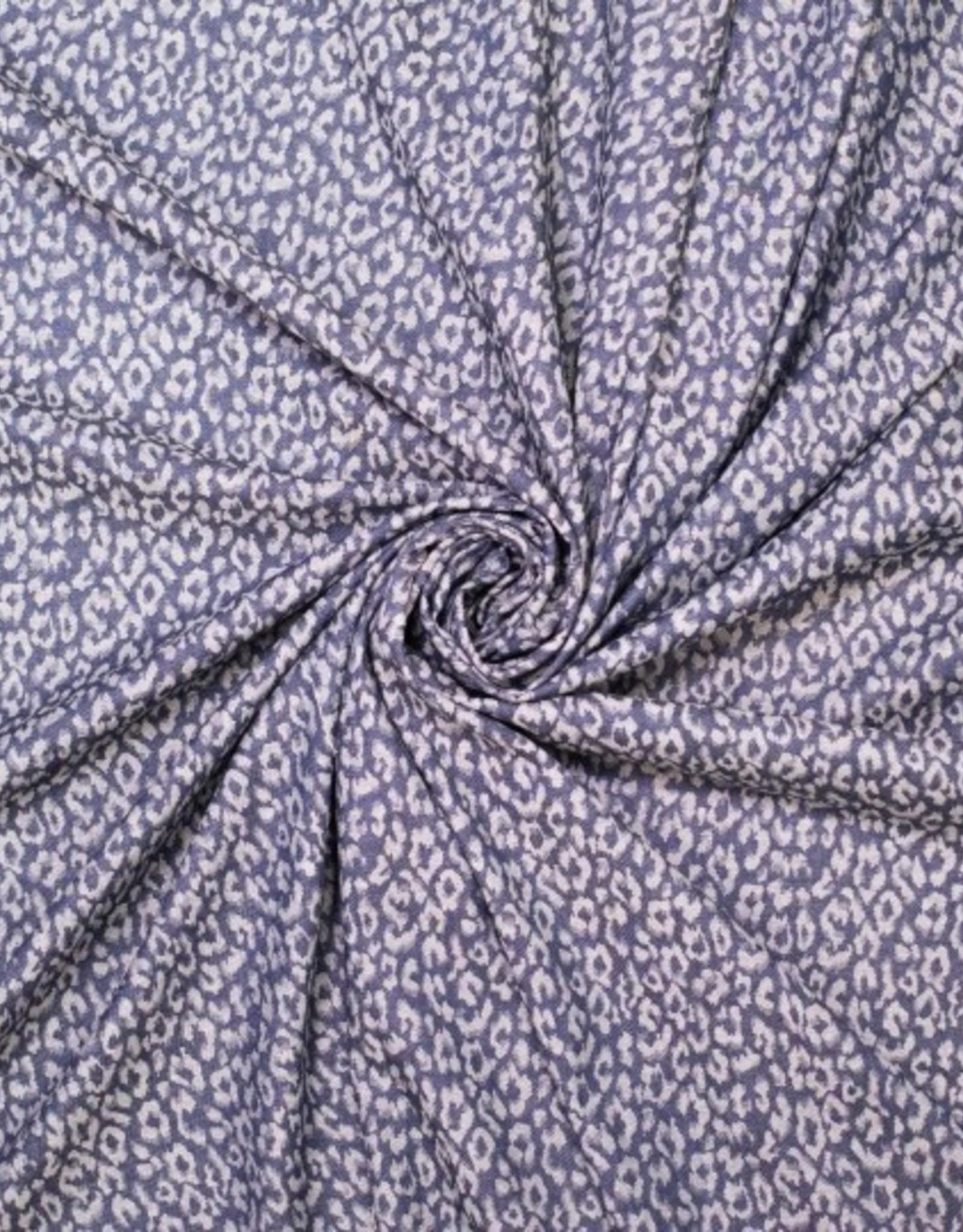Jacquard stretch animal camouflage print denimlook