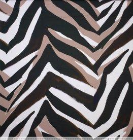 Coupon 1,00x1,45m Katoen met stretch zebraprint