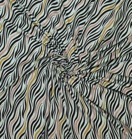 Ilja Tricot mint glitter zebraprint
