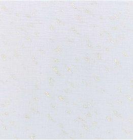 Rico Design Musselin lichtgrijs metallic foil print