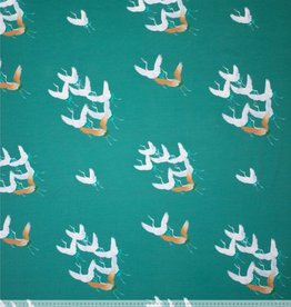 Mies&Moos Tricot flying birds green