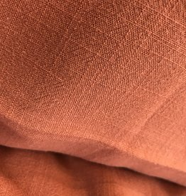Toptex linnen viscose 'stone-washed' roest