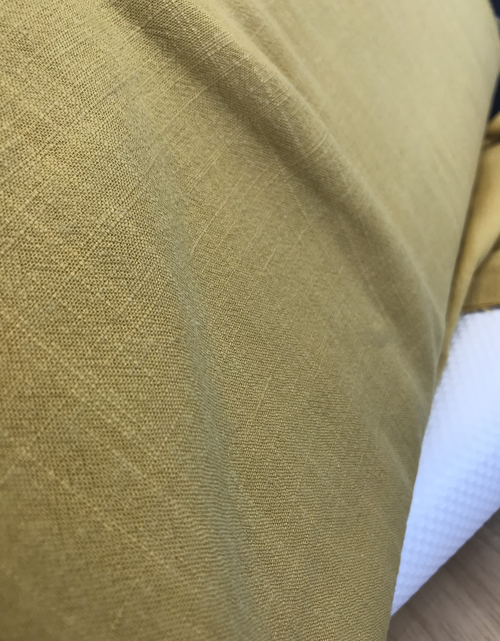 Toptex linnen viscose 'stone-washed' geel