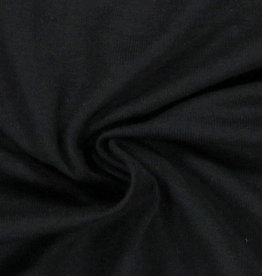Viscosejersey uni zwart
