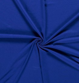 Viscosejersey uni fel koningsblauw