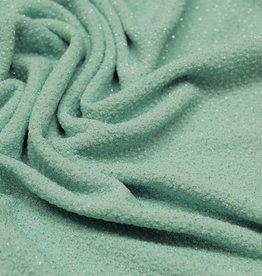 A La Ville Haute Couture Coupon 0,90x1,40m Structuurtricot mint groen met glitters