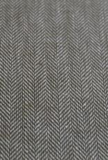 Katoen linnen visgraat motief olijf groen