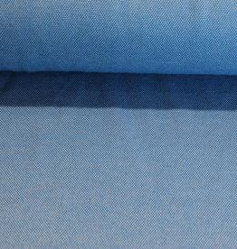 Interlock pique blauw