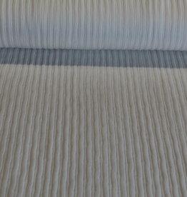 Tricot breisel verticale lijnen offwhite