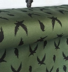 French Terry Camo Green - Winter Crow
