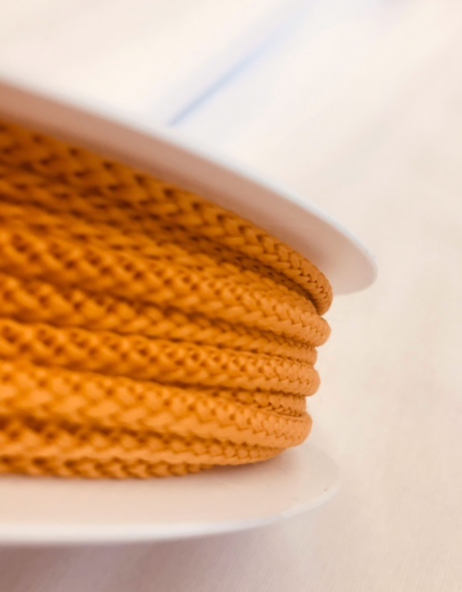 Anorakkoord licht elastisch 4.5mm oker