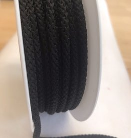 Anorakkoord licht elastisch 4.5mm zwart
