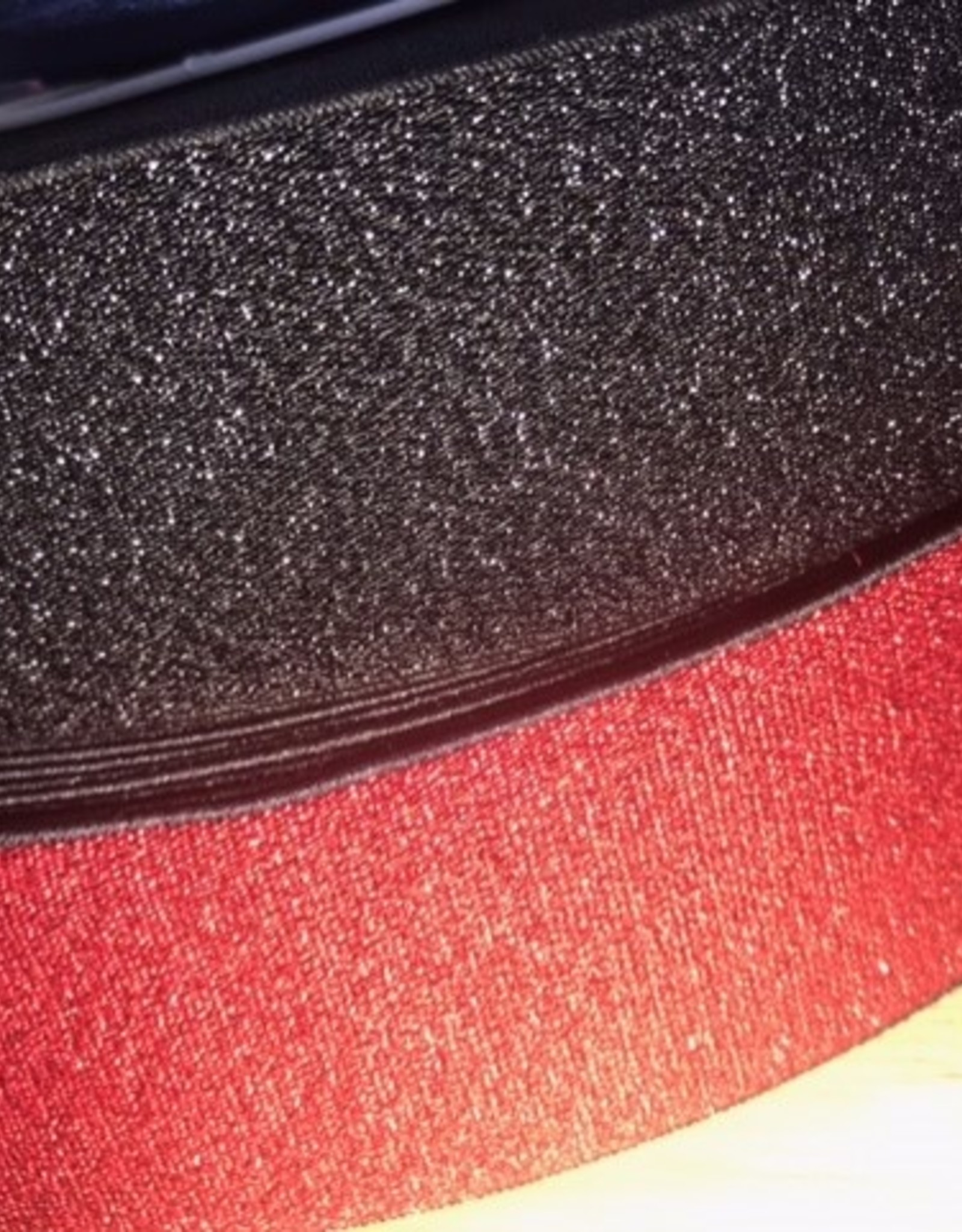 Elastiek zwart all-over glitter zwart 40mm