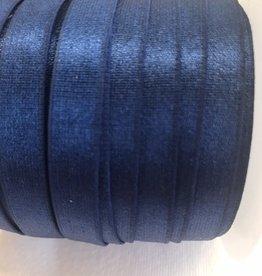 Lingerie elastiek 10mm glanzend marine blauw