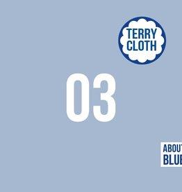 About Blue Fabrics UNI 3 Cashmere Blue Sponge