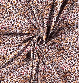 Tricot luipaarden vlekjes brique