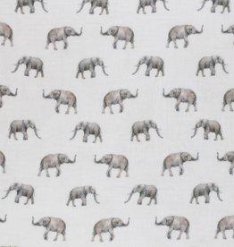 Double Gauze digital print Olifanten kuddes