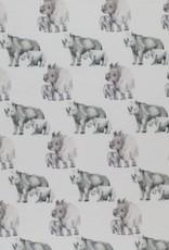 Jersey digital print Rhino neushoorns