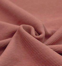 Ottoman Rib Jersey  clay pink