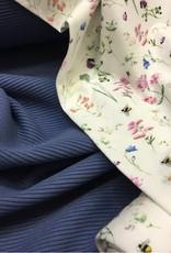 Ottoman Rib Jersey  donker jeans