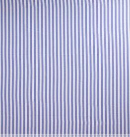 Fibre Mood coupon 100x140cm Viscose wit/jeansblauw gestreept FM Paulette