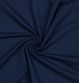 French Terry uni GOTS navy blauw