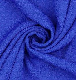 Poppy Marocain stretch crepe kobalt blauw