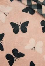 Double Face Cuddle Fleece Butterfly-Checks roze