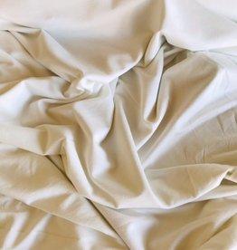 Viscosejersey uni gebroken wit